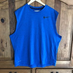 Men's Nike Dri Fit Thick Athletic Tank Top Blue XL